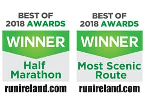 Winner of Run Ireland 'Best Half Marathon 2018' and 'Most Scenic Route' 2018 awards