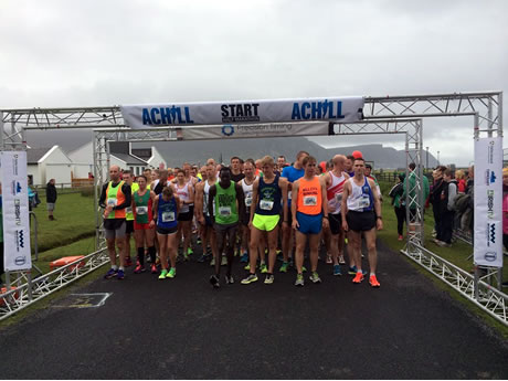 Start of 2015 Achill Half Marathon - Photo by Precision Timing